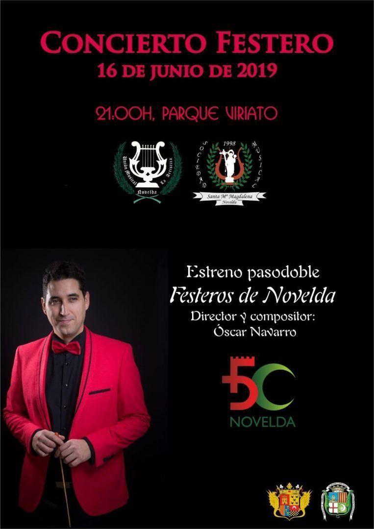 Ayuntamiento de Novelda Cartel-Concierto-Oscar Concert Fester