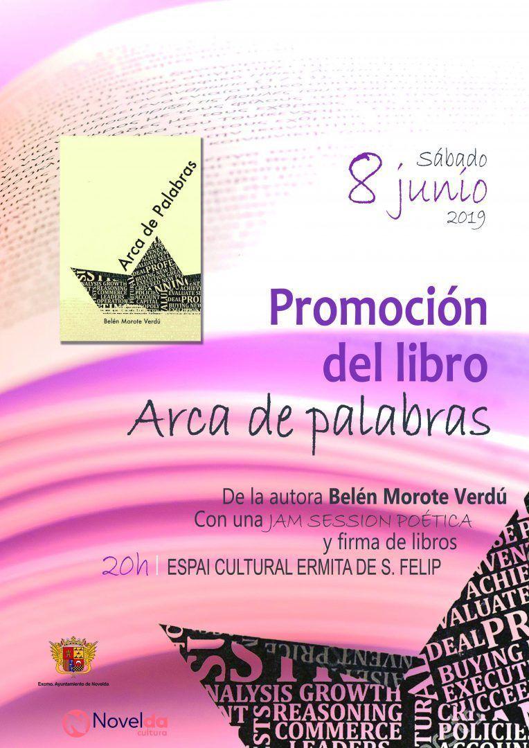"""Ayuntamiento de Novelda PROMOCION-LIBRO-ERMITA-SAN-FELIP-8-DE-JUNIO Promoció del llibre """"Arca de palabras"""""""