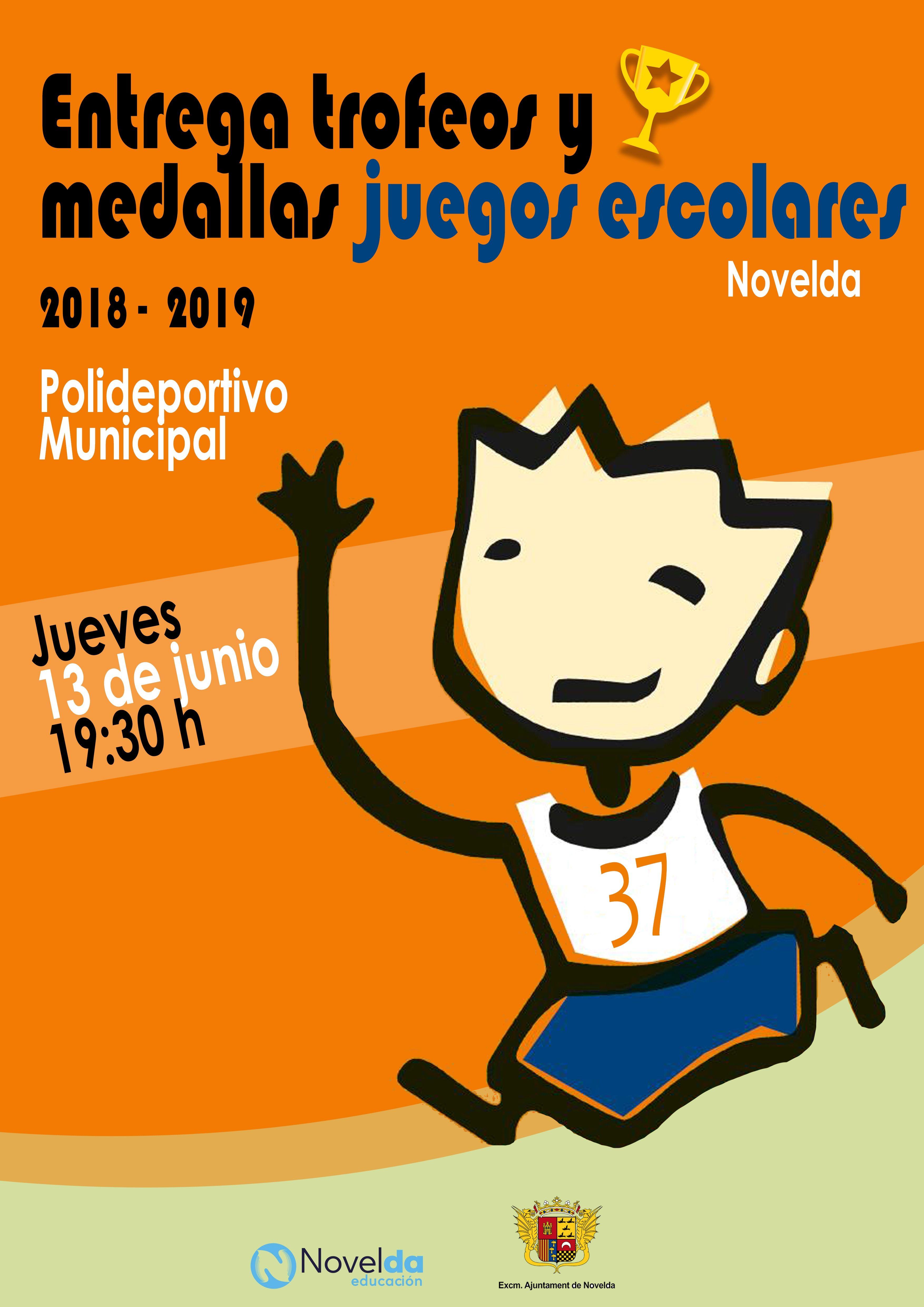 Ayuntamiento de Novelda Premios-Juegos-Escolares Lliurament de trofeus i medalles jocs escolars