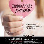 Ayuntamiento de Novelda CARTEL-AMOR-PROPIO_NOVELDA-150x150 Igualdad oferta dos talleres de empoderamiento femenino