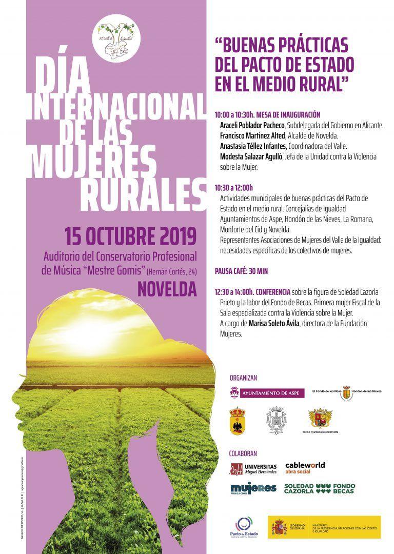 Ayuntamiento de Novelda Cartel-Mujer-Rural-1 Día Internacional de las Mujeres Rurales