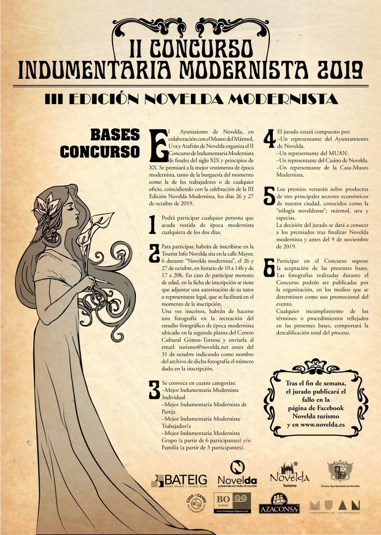 Ayuntamiento de Novelda bases-concurso-modernista Concurso de Indumentaria Modernista