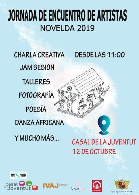 Ayuntamiento de Novelda cartel-jornada-ok Jornada de Encuentro de Artistas
