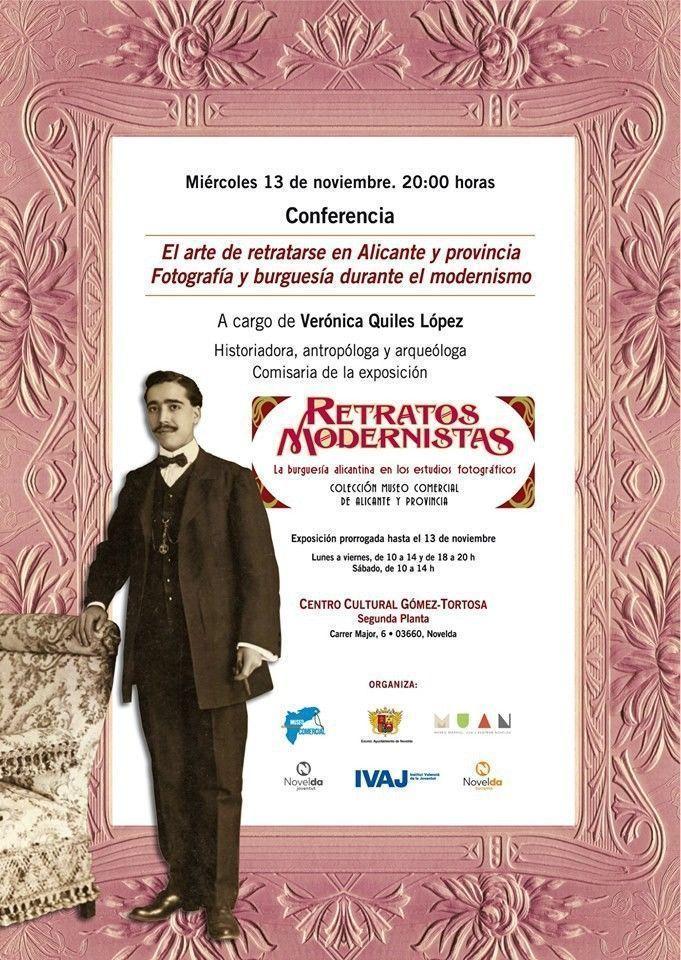 """Ayuntamiento de Novelda 75250883_3321242881279858_6374903821537116160_n Conferencia """"L'art de retratar-se a Alacant i Província. Fotografia i burgesia durant el modernisme"""""""