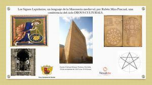 """Ayuntamiento de Novelda Rubén-Mira-Pascual-LOS-SIGNOS-LAPIDARIOS-300x169 Conferencia """"Los Signos Lapidarios, un lenguaje de la masonería medieval"""""""