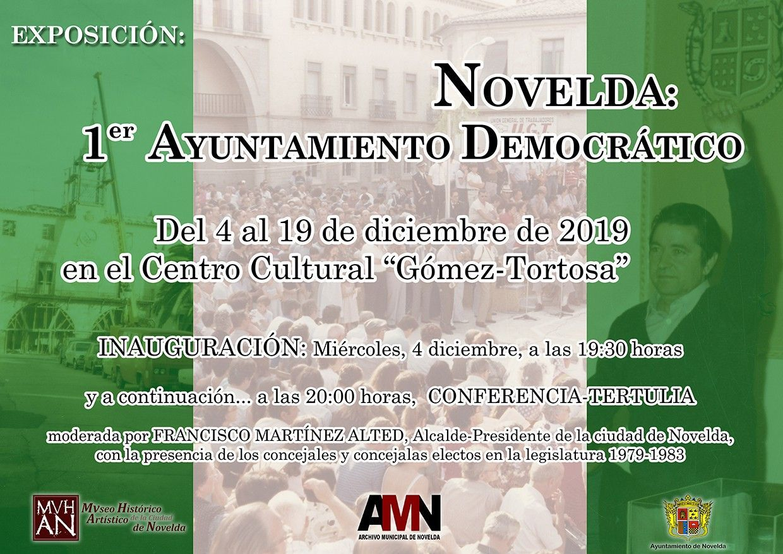 Ayuntamiento de Novelda Cartel-Expo-Novelda-Democr-BR Exposició Novelda: Primer Ajuntament Democràtic