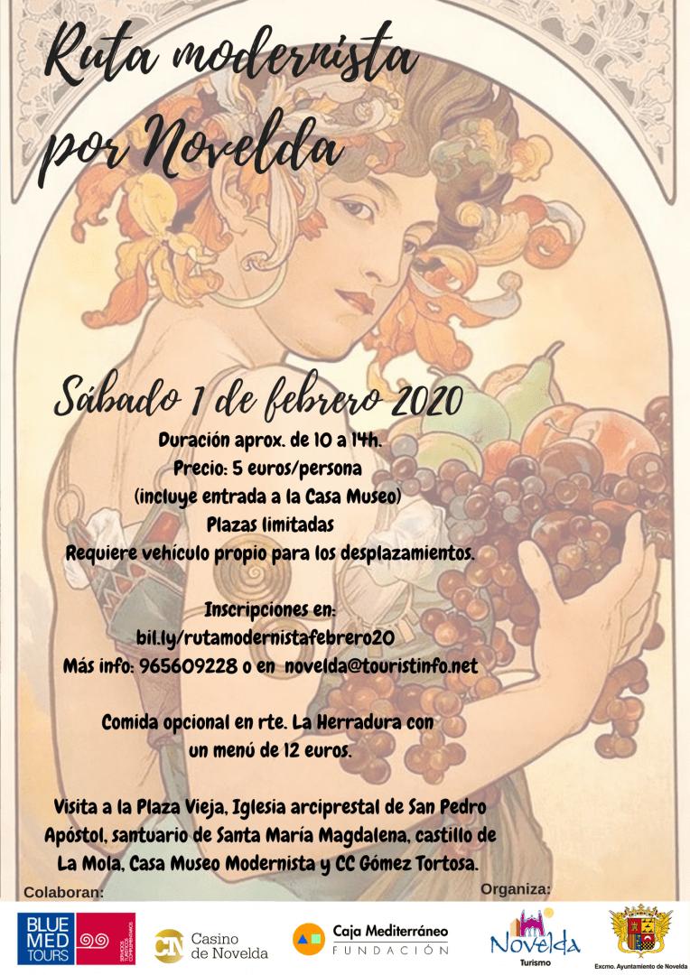 Ayuntamiento de Novelda Rutas-moderista-febrero-2020 Ruta modernista febrero