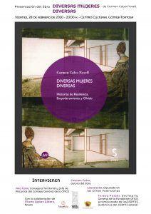 """Ayuntamiento de Novelda Cartel-Diversas-Mujeres-Diversas-212x300 Presentación del libro """"Diversas Mujeres Diversas"""" de Carmen Calvo Novell"""