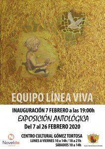 """Ayuntamiento de Novelda Cartel_LÍNEA-VIVA-212x300 Exposición Antológica """"Equipo línea Viva"""""""
