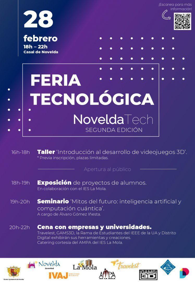 Ayuntamiento de Novelda Cartel_NoveldaTech_II_page-0001 Feria Tecnológica Novelda Tech