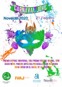 Ayuntamiento de Novelda cartelcarnavalmitad-2-212x300 Carnaval Jove 2020