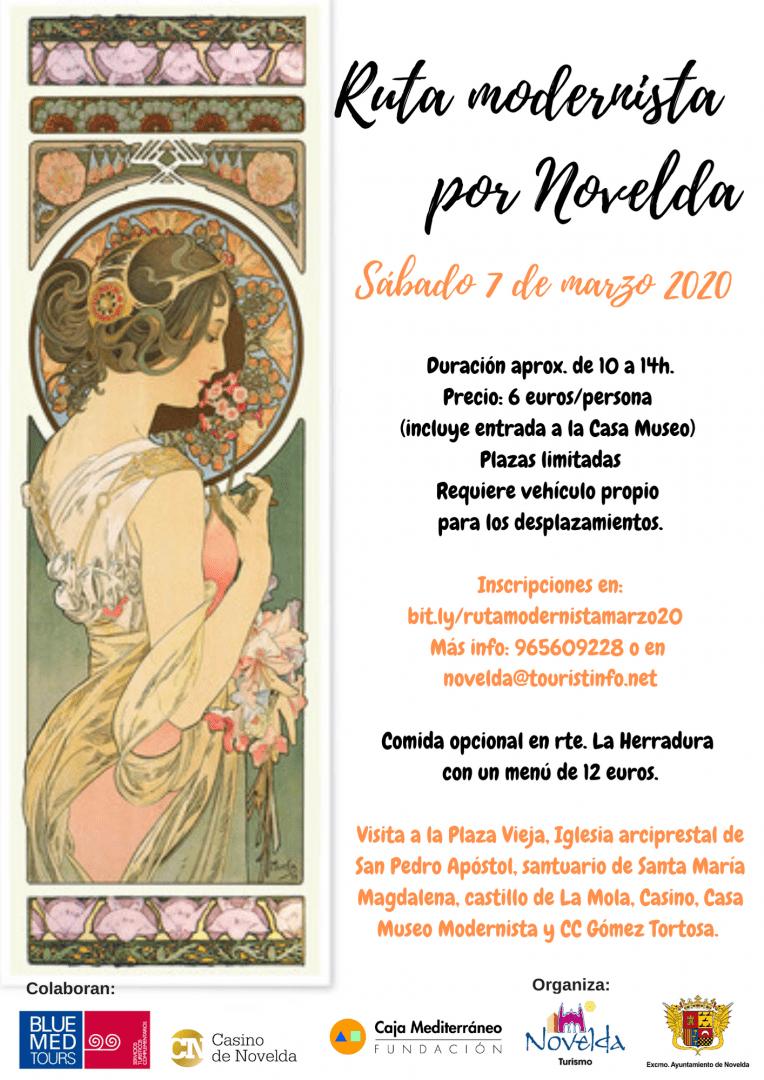 Ayuntamiento de Novelda ruta-modernista-marzo-2020 Ruta Modernista por Novelda