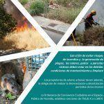 Ayuntamiento de Novelda Cartel-150x150 Medio Ambiente pone en marcha una campaña informativa para la limpieza de solares y parcelas