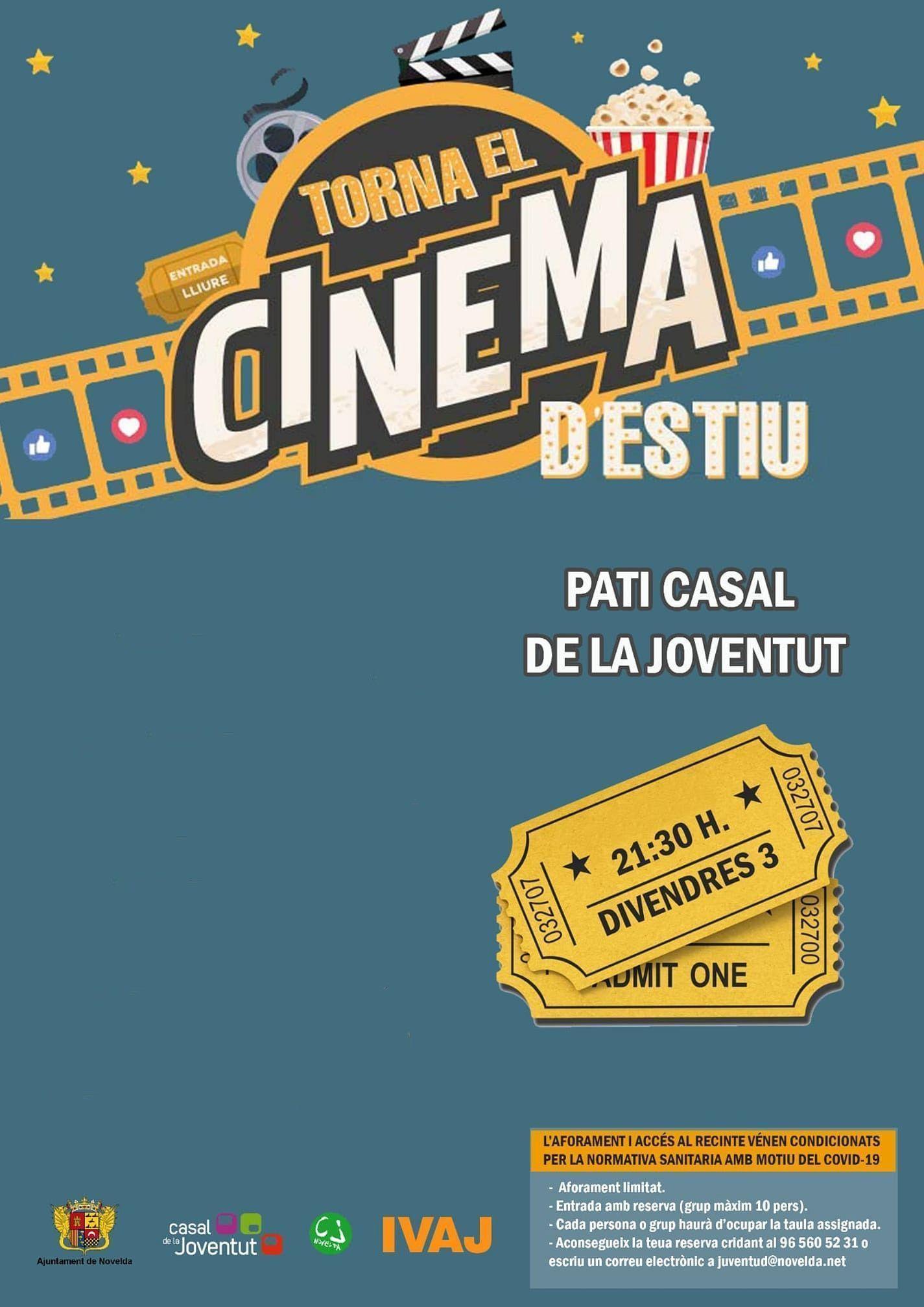 Ayuntamiento de Novelda cartel-cine-ok Cinema a la Fresca