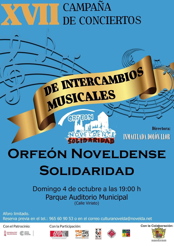 Ayuntamiento de Novelda Cartel-Orfeón Concierto Orfeón Noveldense Solidaridad