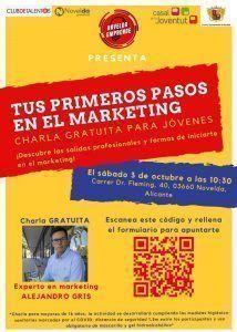 """Ayuntamiento de Novelda Charla-Marketing-214x300 Charla """"Tus primeros pasos en el marketing"""""""