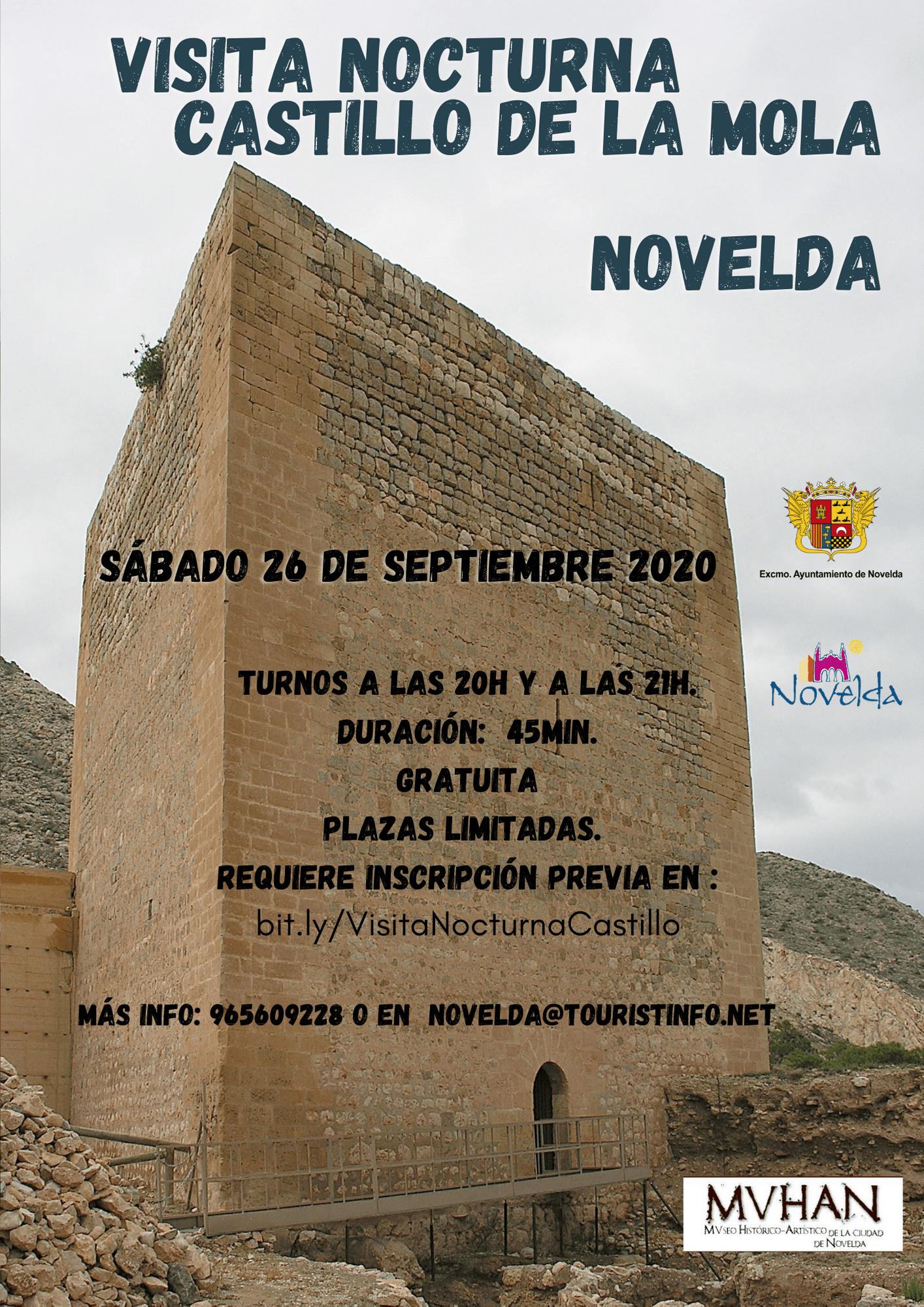 Ayuntamiento de Novelda visita-nocturna-castillo-octubre-20 Visita Nocturna Castillo de la Mola