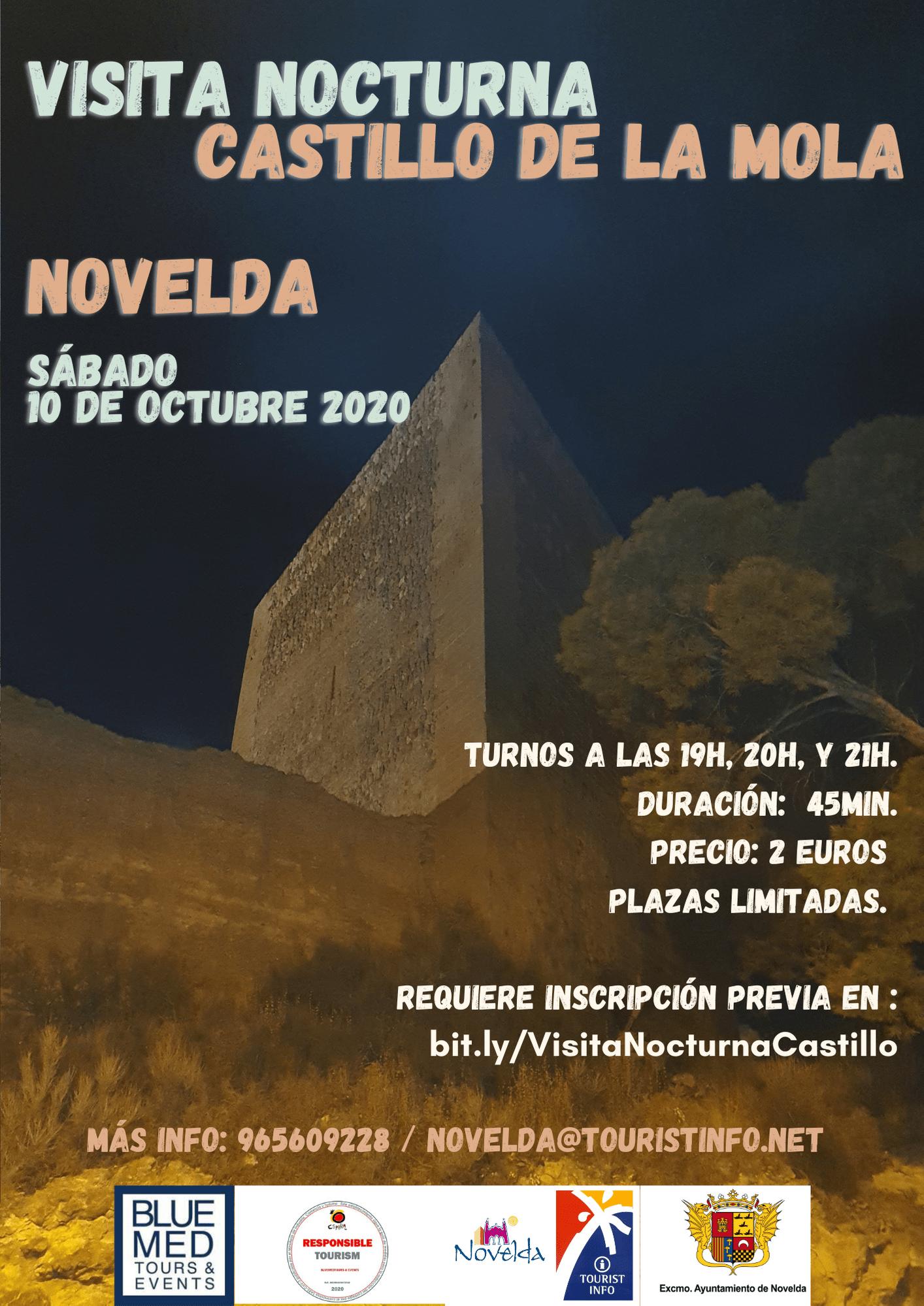 Ayuntamiento de Novelda Visita-Nocturna-Castillo Visita nocturna Castillo de la Mola