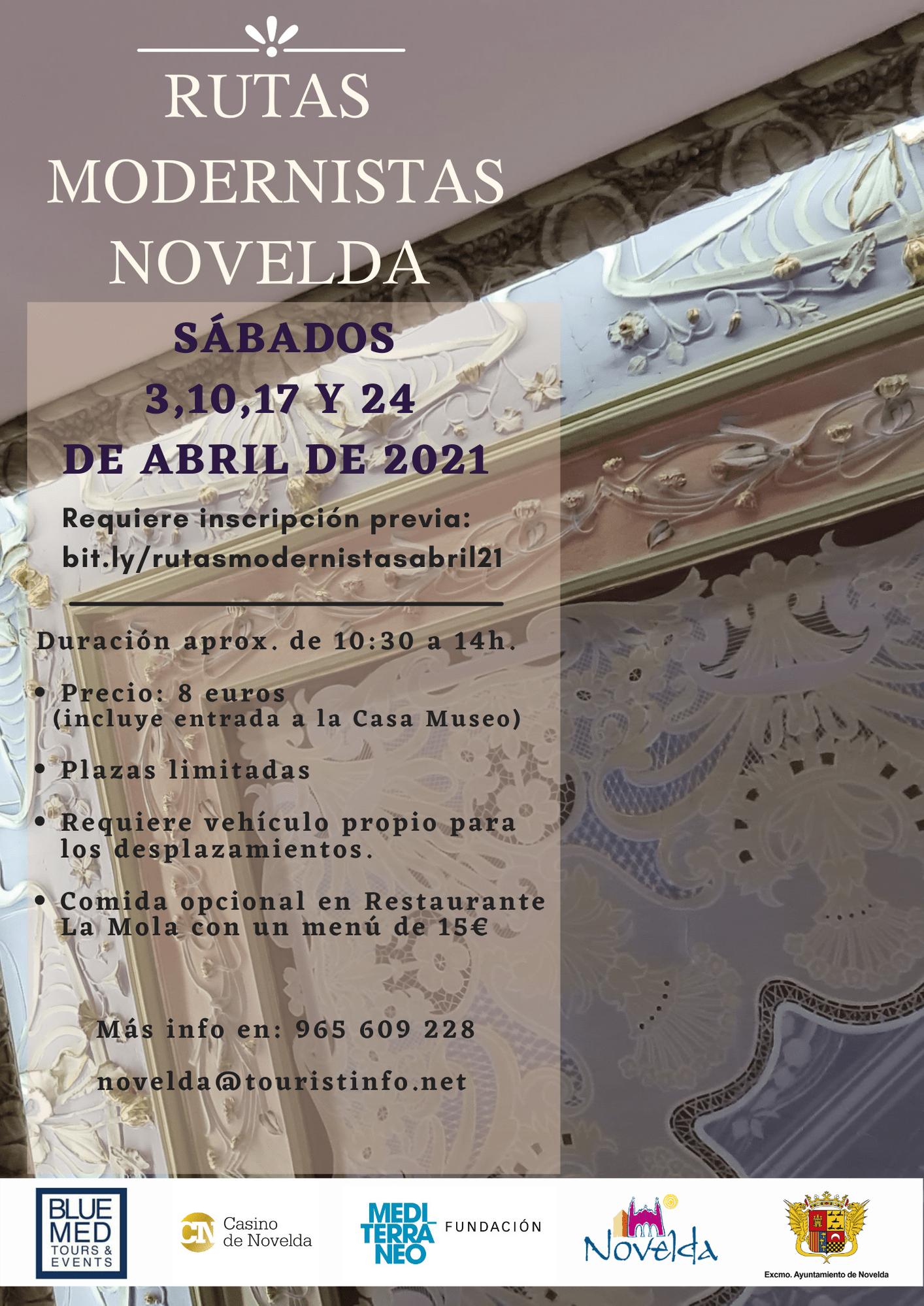 Ayuntamiento de Novelda Rutas-moderistas-abril-2021 Rutas Modernistas Novelda
